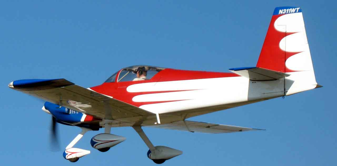 Mike Casey in his RV-7A